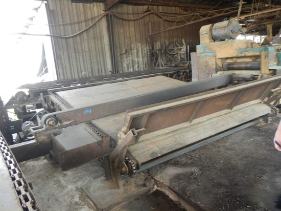 EDGER STRIP DUMP, ELECTRIC MOTOR AND GEARBOX