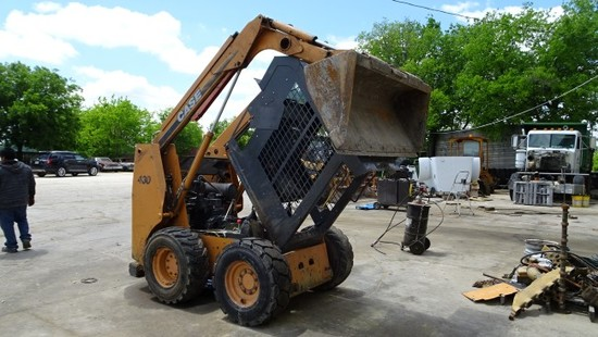2007 CASE 430 SKID STEER LOADER,  ROPS CAGE,  AUXILIARY HYDRAULICS, GP BUCK