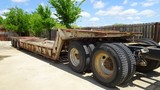 1979 LOAD KING LOWBOY TRAILER,  TRI AXLE, HYRAULIC POWER FOLDING NECK, GAS