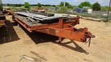 1982 BELSHE T-8 EQUIPMENT TRAILER,  PINTLE HITCH, (2) 10000 LB AXLES, DOVET