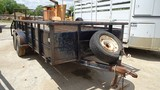 PERFORMANCE/PARKER TAG TRAILER,  TANDEM AXLE, BALL HITCH, METAL SIDES, WOOD