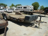SHOPBUILT TILT TRAILER,  TANDEM AXLE, BALL HITCH S# N/A