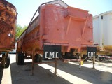 CLEMENTS/CMC STEEL DUMP TRAILER,  RED FRONT, TANDEM AXLE