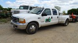 2001 FORD F350XL SUPER DUTY PICKUP TRUCK, 167,546 mi,  DUALLY, CREW CAB, PO