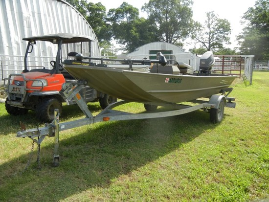 W3 16' FISHING BOAT  WITH 40HP YAMAHA OUTBOARD MOTOR S# N/A, NO TITLE