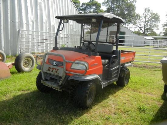 2004 KUBOTA 900 SIDE BY SIDE ATV,  4X4, DIESEL, HYDROSTATIC, PS, 2,365 HOUR