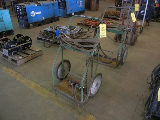 BOTTLE CART  WITH TORCH & HOSE