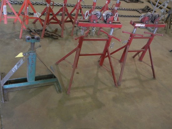 (3) PIPE ROLLER STANDS