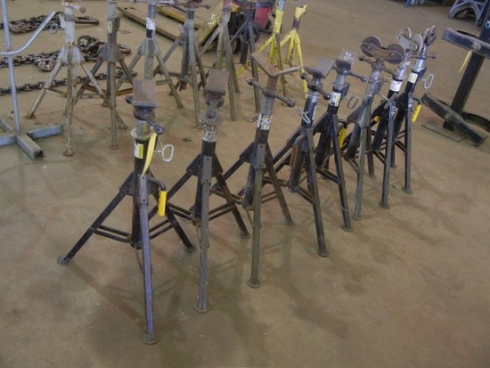(8) PIPE ROLLER STANDS & ROLLERS