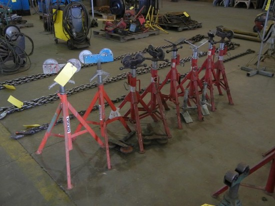 (8) PIPE STANDS  AND ROLLERS