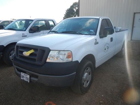 2006 FORD F150 PICKUP TRUCK, 193k mi,  SINGLE CAB, GAS, AUTOMATIC, FUEL TAN