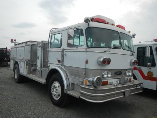 1976 PENFAB E1 PUMPER FIRE TRUCK, DETROIT 8V92 DIESEL