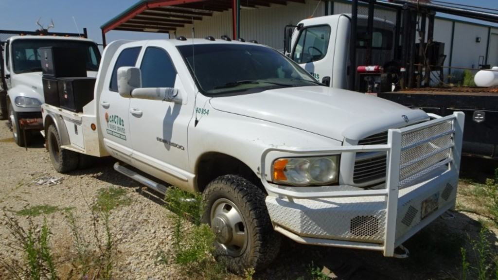 2003 Dodge Ram 3500 Flatbed Truck 4 Door Cummins 24 V Diesel 6 Speed Commercial Trucks Hauling Transport Trucks Flatbed Trucks Online Auctions Proxibid