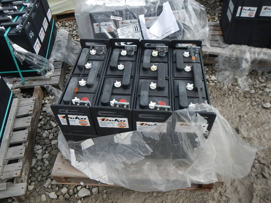 PALLET WITH (4) DEKA BATTERIES, 72-VOLT