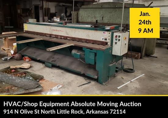 HVAC Shop Equipment Moving Auction