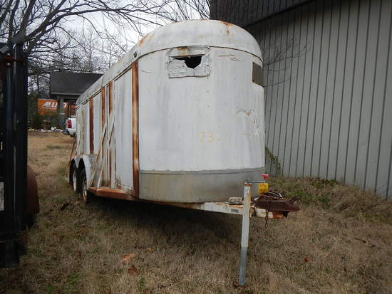 16' HORSE TRAILER WITH CONTENTS