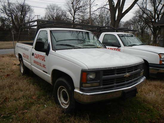 1996 CHEVROLET 2500 PICKUP TRUCK,  (LOCKED- NO KEYS), V8 GAS, AT, PS, AC, L
