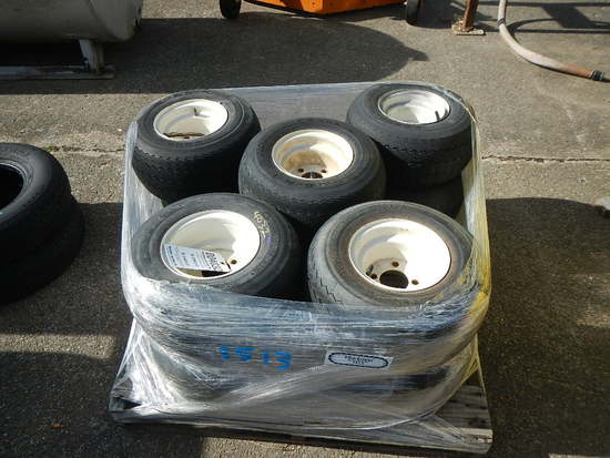 (10) 18X/8.50-8 GOLF CART TIRES AND WHEELS