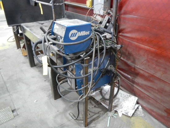 MILLER WELDER WITH MILLER 22 WIRE FEEDER   LOAD OUT FEE: $5.00