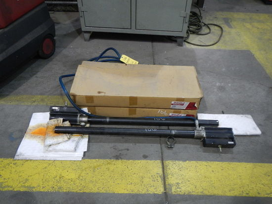 (4) GREASE BARREL PUMPS   LOAD OUT FEE: $5.00