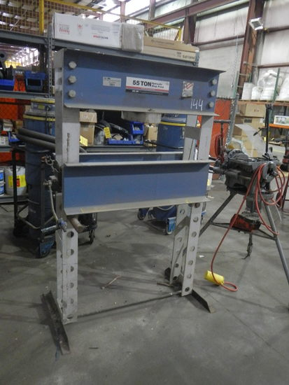 55-TON HYDRAULIC SHOP PRESS   LOAD OUT FEE: $5.00