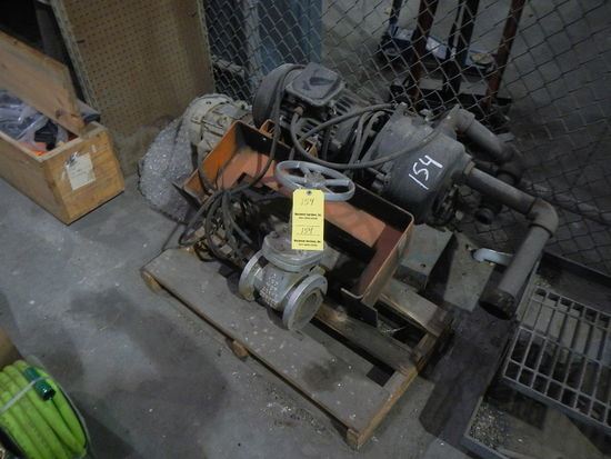 (1) 5 HP MOTOR,(1) 10 HP MOTOR AND WATER SHUTOFF VALVE   LOAD OUT FEE: $5.0