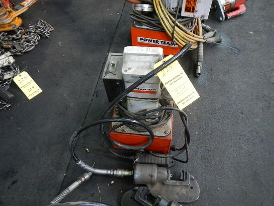 POWERTEAM PORTABLE HYDRAULIC POWER PACK   LOAD OUT FEE: $5.00