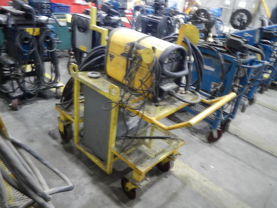 ESAB POWERCUT 875 PLASMA CUTTER,  ROLL-AROUND CART, WITH 30KVA TRANSFORMER