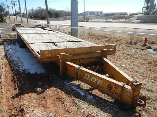 2006 ELITE 28' TRAILER,  PINTLE HITCH, TANDEM AXLE WITH DUALS, DOVETAIL WIT