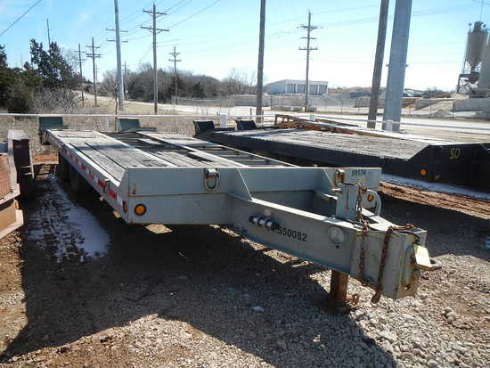 1995 INTERSTATE 24DT TRAILER,  PINTLE HITCH, TANDEM AXLE, DUAL TIRE, 24' WI
