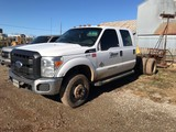 2012 FORD F350 SUPER DUTY CAB & CHASSIS, 146,601 miles,  CREW CAB, 6.7L POW