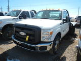 2011 FORD F-350 FLATBED PICKUP TRUCK, 50,316 miles,  POWERSTROKE DIESEL, AT