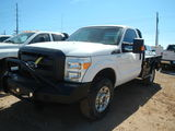 2015 FORD F250 FLATBED TRUCK, 72,871 miles,  V8 GAS, AUTOMATIC, 4X4, SINGLE