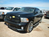 2014 DODGE 1500 PICKUP TRUCK,  CREW CAB, V8 GAS, AUTOMATIC, PS, AC, (DOES N