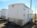 2010 CONTINENTAL ENCLOSED CARGO/PRESSURE WASHER TRAILER, 382 HOURS  18', TA