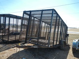 2007 APACHE 16' TRASH TRAILER,  TANDEM AXLES WITH SINGLES, EXPANDED METAL S