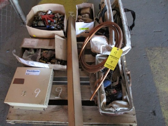 CONTENTS OF PALLET  COPPER, MISC FITTINGS AND MISC ITEMS