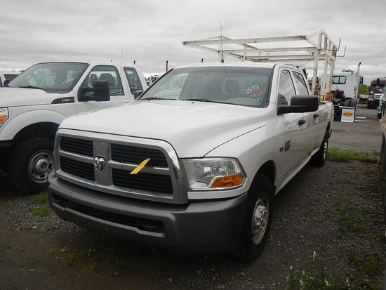 2011 DODGE RAM 2500 PICKUP 174371  CREW CAB, V8 GAS, AT, PS, AC, LADDER RAC