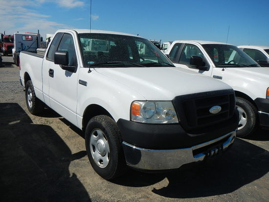 2008 FORD F150 PICKUP, 134K+  4.6L GAS ENGINE, AT, PS, AC, TOOLBOX S# 1FTRF