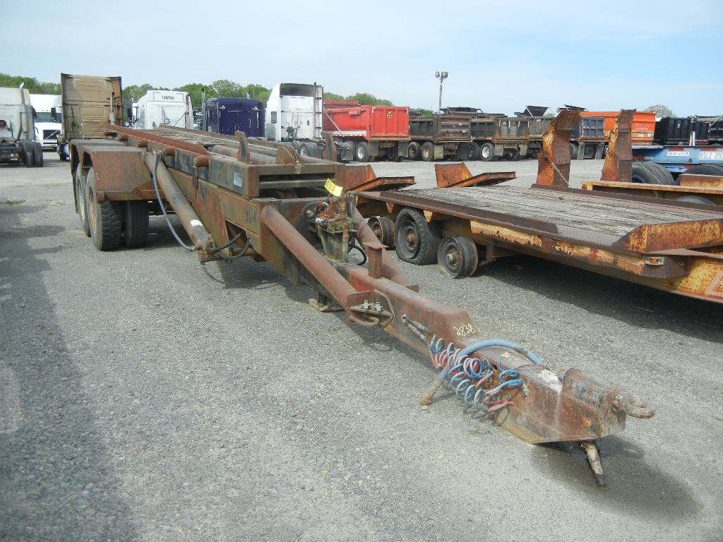 G & H 1700L ROLL OFF TRAILER,  PINTLE HITCH, TANDEM AXLE, SPRING SUSPENSION