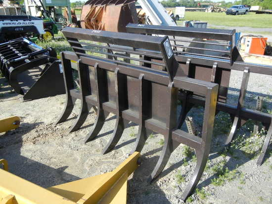 STAKING RAKE,  NEW, 6', WITH SKID STEEER HITCH