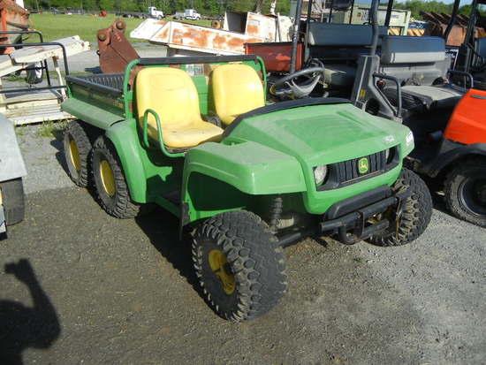 JOHN DEERE GATOR ATV,  6-WHEEL, GAS S# 003607