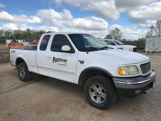2003 FORD F150 PICKUP TRUCK,  4X4, EXTENDED CAB, V8 GAS, AT, PS, AC, FUEL T
