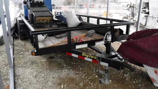 2015 BIG TEX 10PL-20BK TAG TRAILER,  (2) 5000 LB AXLES, BALL HITCH, SLIDE O