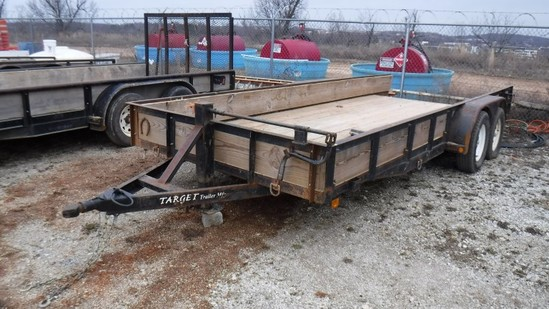 2005 TARGET TAG TRAILER,  TANDEM AXLE, BALL HITCH, S# 5H0BU18285S005346