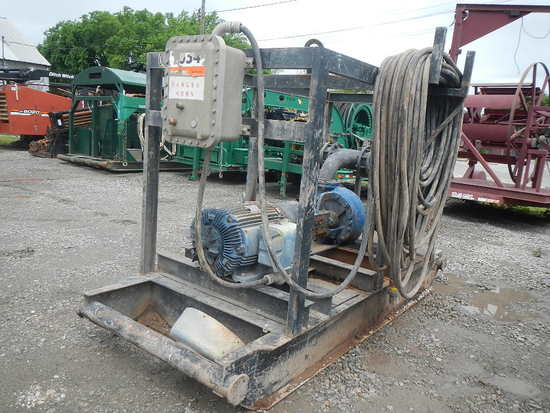 MCM 250 CENTRIFUGAL PUMP,  75 HP ELECTRIC MOTOR, SKID MOUNTED
