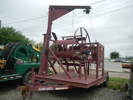 MIDLAND HOSE REEL TRAILER,  HONDA 9.0 HP GAS ENGINE S# N/A C# N/A