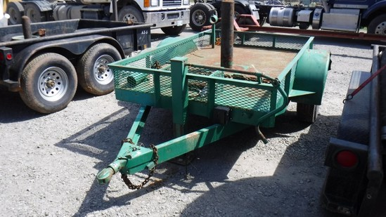 Single Axle Tag Trailer, Green, S#, Co#50327