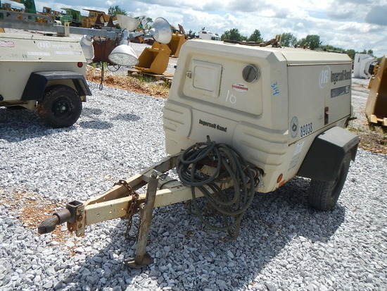 INGERSOLL RAND 185 PORTABLE AIR COMPRESSOR, 1216 HOURS  6 CYLINDER DIESEL E