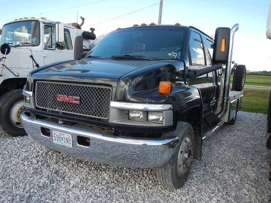 2004 GMC 4500 FLATBED TRUCK, 150k+ miles  QUAD CAB, DURAMAX DIESEL, ALLISON